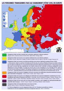 Graphique sur le changement d'état civil en Europe
