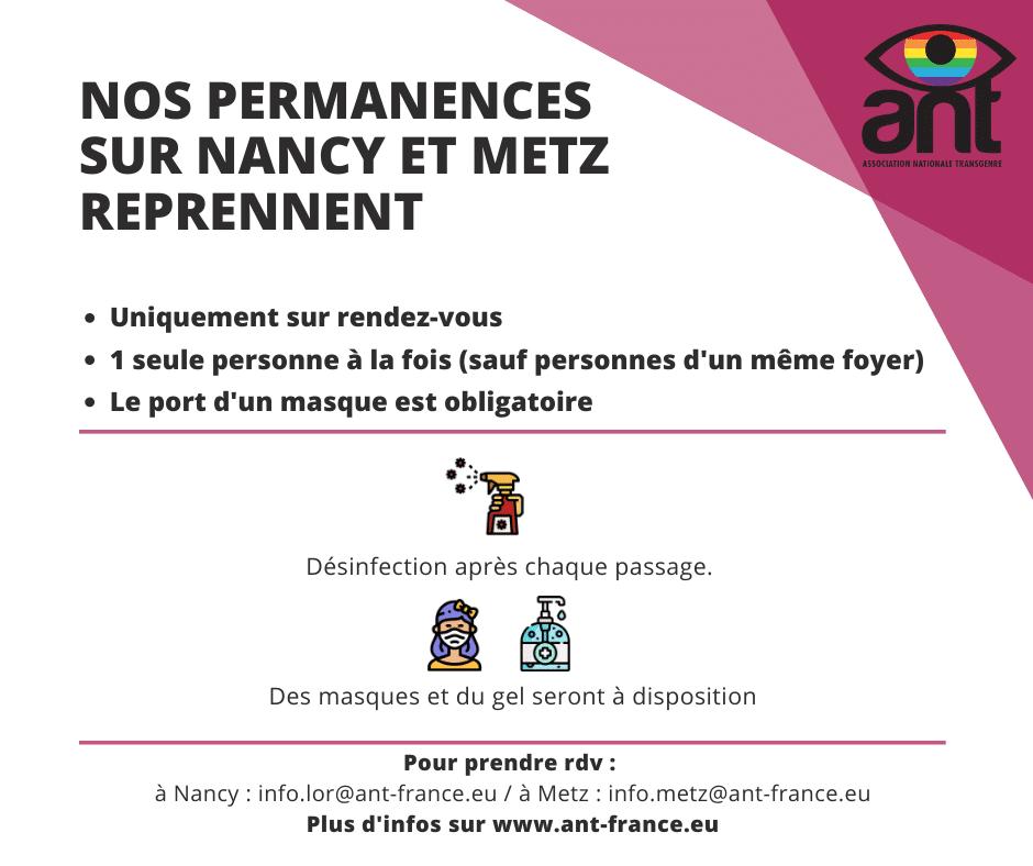Les permanences de l'ANT reprennent uniquement sur rdv jusque septembre, contactez-nous à info.lor@ant-france.eu pour prendre rdv